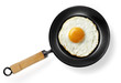 fried egg in frying pan