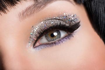 Woman eye with fashion makeup