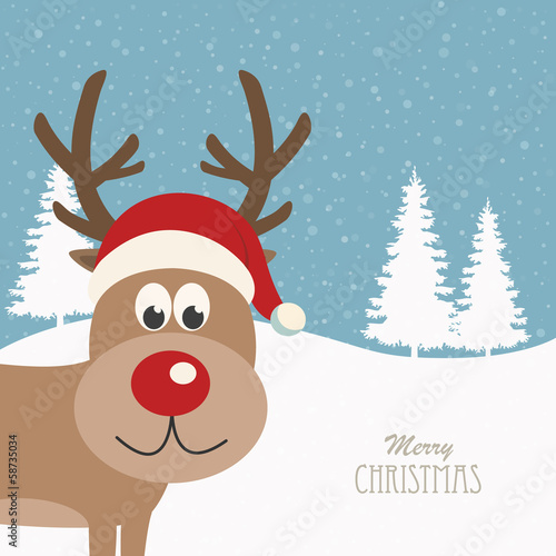 reindeer snowy background