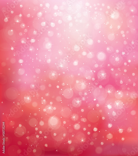 Vector glitter pink background.