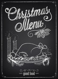 Christmas menu on the chalkboard