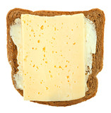 bread and butter and cheeese sandwich