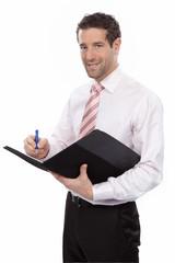 Geschäftsmann macht sich Notizen