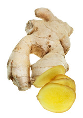 fresh sliced ginger root