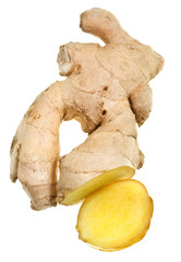 section of fresh ginger root
