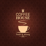 coffee cup vintage design background