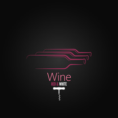 wine bottle corkscrew design background