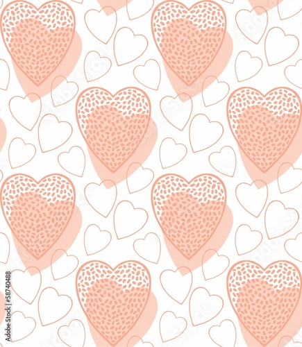 Hearts pattern in pink color