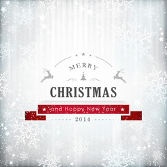 Silver red Christmas card