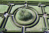 geometric  ornamental garden wiew from above