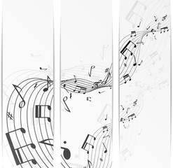 Music notes banner