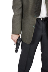 Man with a pistol in his hand