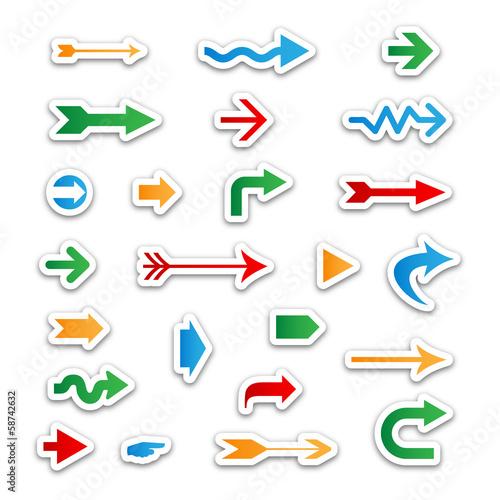ARROW Icons (sticker label icon symbol play)