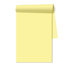 Blank notepad, notebook