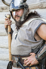 The portrait of the Viking with his ax