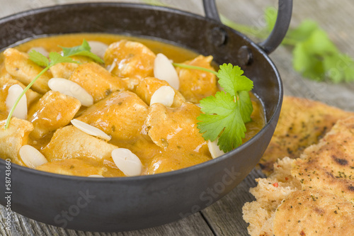 Chicken Korma - Chicken with a mildly spiced creamy sauce