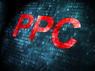 Business concept: PPC on digital background