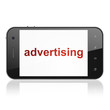 Marketing concept: Advertising on smartphone