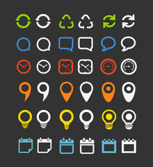 Color collection  of Web icons