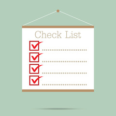 popular empty checklist whiteboard isolated