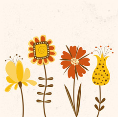 Floral background in bright colors.