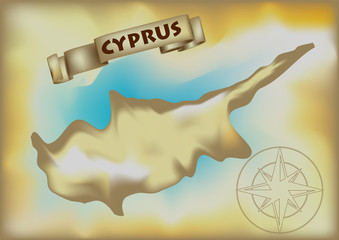 abstract map of cyprus