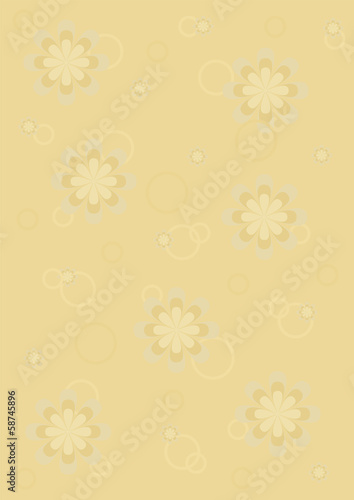 Background gold flowers pattern