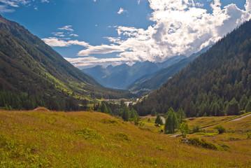 Das Lötschental in den Walliser Alpen