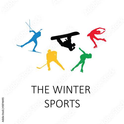 The winter sports, vector