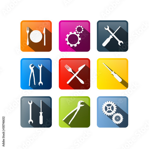 Vector Icons, Buttons