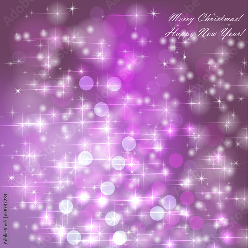 Abstract background with snowflakes, stars and fun confetti
