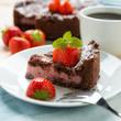 Zupfkuchen-Variation mit Erdbeer-Sojajoghurt-Füllung