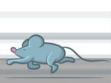 Cartoon Mouse Running Fast