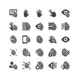 Biometric Security Icons Set