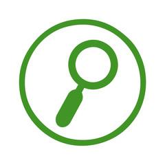 Lupe-Symbol in einem grünen Kreis