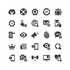 SEO Metaphors Icons Set