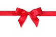 red ribbon and bow on isolated white background