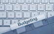 Budgeting. Keyboard. Folder