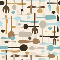 Cutlery seamless pattern background