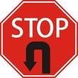 """Знак """"STOP"""" с поворотом обратно"""