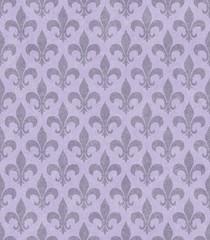 Purple Fleur De Lis Textured Fabric Background