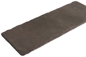 Empty Slate - Black serving platter isolated on white