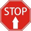 "Знак ""STOP"" со стрелкой"