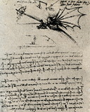 Flying device by Leonardo da Vinci