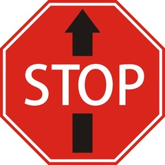 "Знак ""STOP"" со стрелкой вперед"