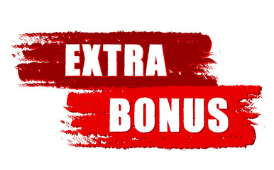 extra bonus on red drawn banners