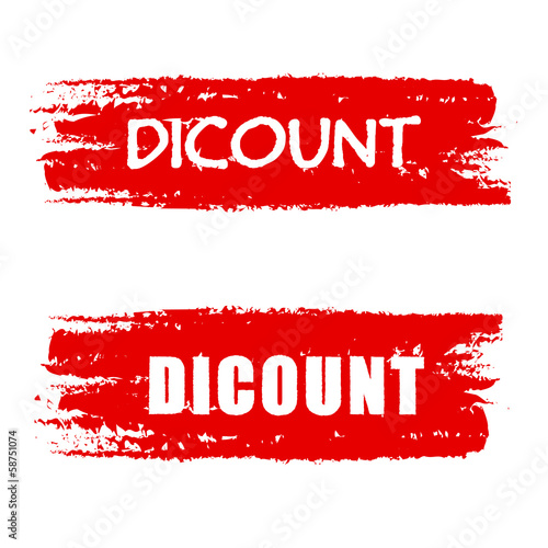 discount on red drawn banners