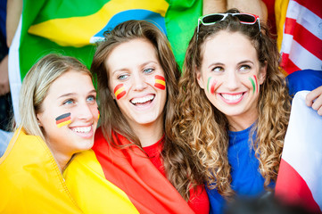 Female Supporters of Different Nationality