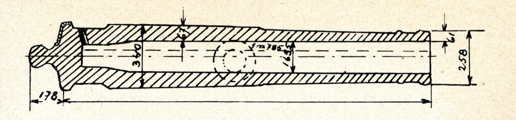 Barrel of 16,5 cm french howitzer ca. 1830
