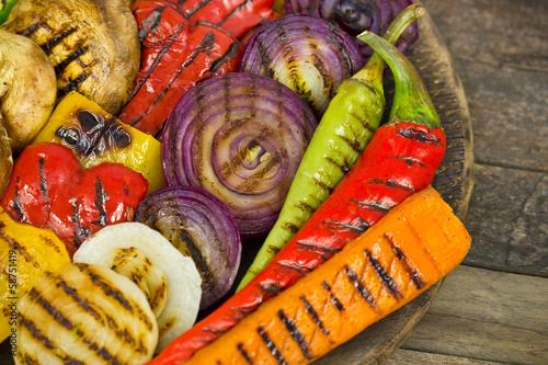 Fotobehang Groenten Grilled vegetables